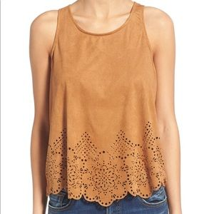 Love on a Hanger faux suede tank m